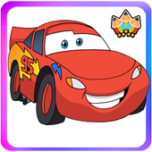 How To Draw Lightning Mcqeen (Cars coloring) icon