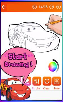 How To Draw Lightning Mcqeen (Cars coloring) apk screenshot