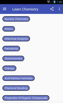 Learn Chemistry screenshot 1