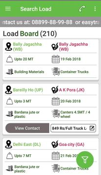 Easy Load India - Online freight , Load , Trucks apk screenshot