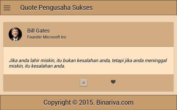 Quote Pengusaha Sukses screenshot 3