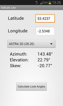 SatCalc Free Satellite Finder imagem de tela 1