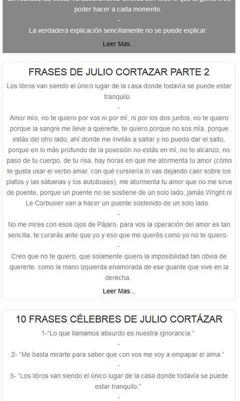 Frases De Julio Cortázar For Android Apk Download