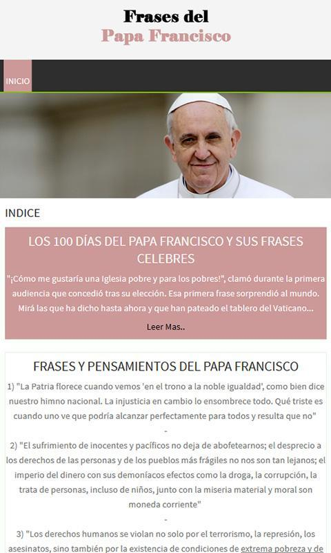 Frases Del Papa Francisco For Android Apk Download