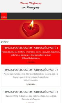 Frases poderosas em Português poster