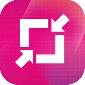Image resize, compress, reduce icon