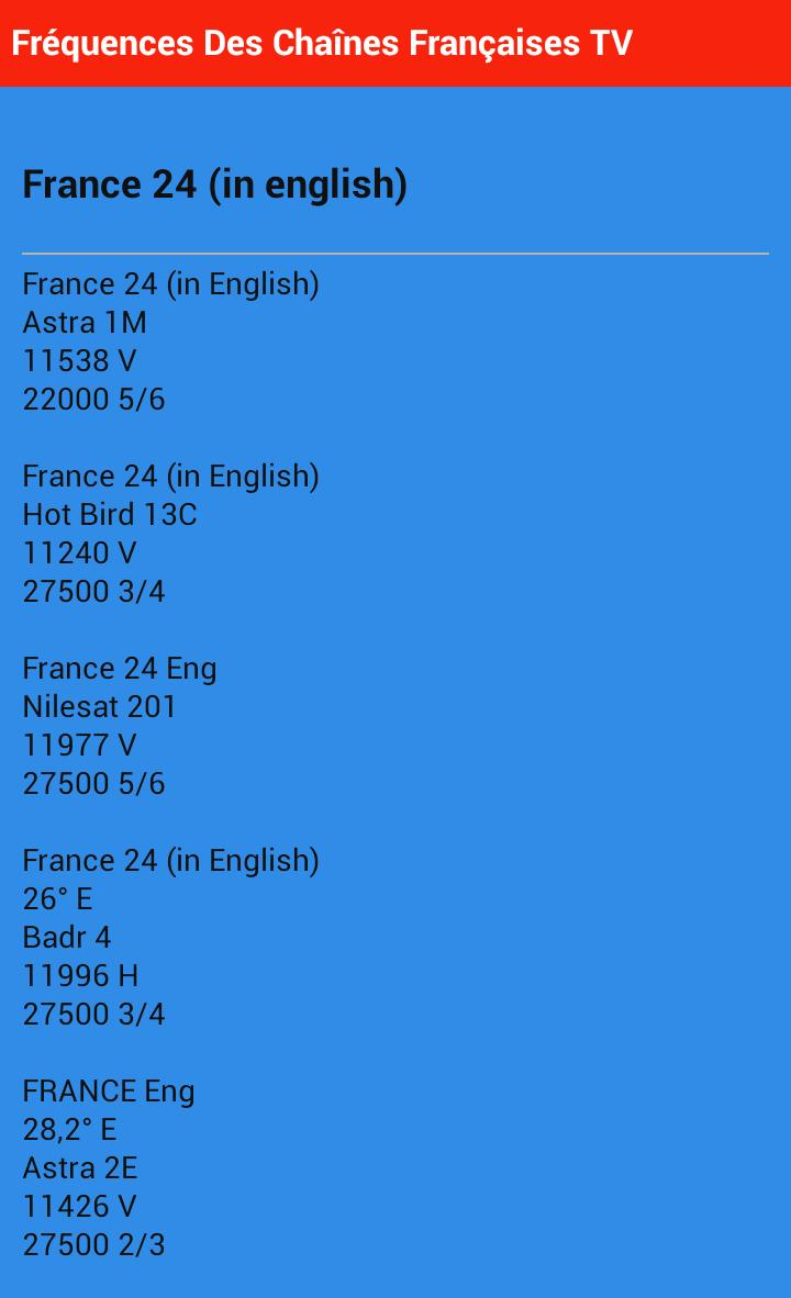Frequency of French TV channel for Android - APK Download