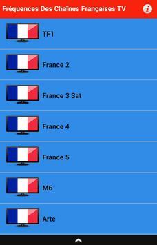 تردد القنوات الفرنسية TV الملصق تردد القنوات الفرنسية TV apk تصوير الشاشة  ...
