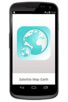 Satellite Map Earth poster
