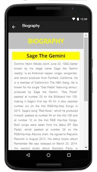 Sage The Gemini - Music And Lyrics apk screenshot