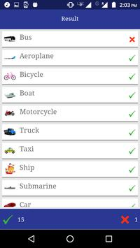 Vehicles for toddlers apk screenshot