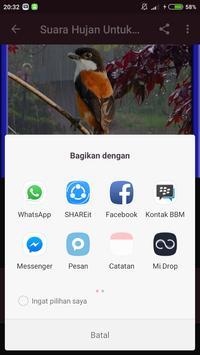 Suara Hujan Untuk Terapi Burung screenshot 4
