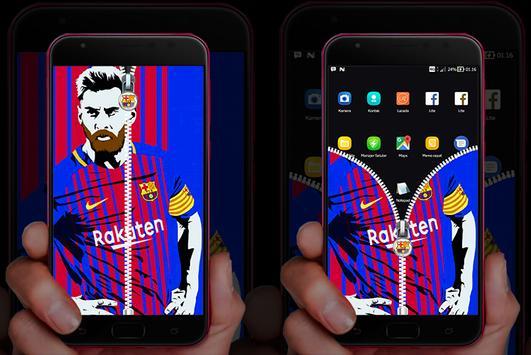 Barcelona: Messi Lock Screen screenshot 2