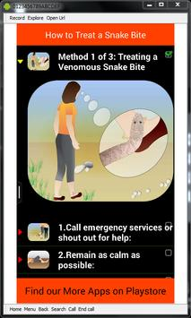 Snake Bite Emergency Tips apk screenshot