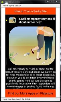 Snake Bite Emergency Tips screenshot 4