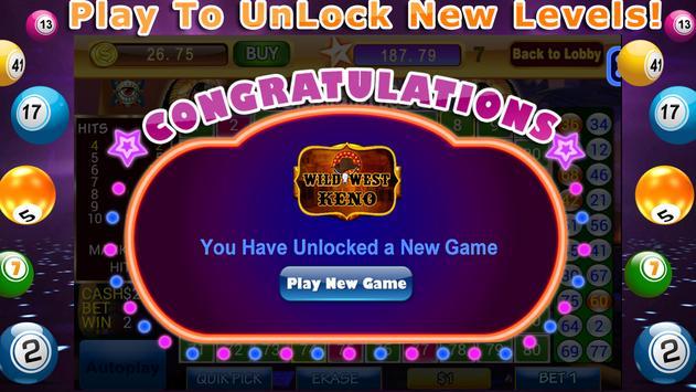Lucky Keno Numbers Bonus Casino Games Free screenshot 11