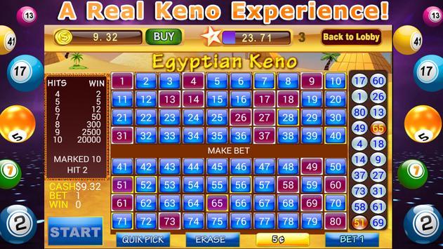 Lucky Keno Numbers Bonus Casino Games Free screenshot 4