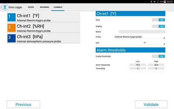 Sauermann Data Logger screenshot 5