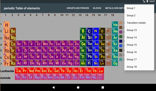 Periodic table for android apk download periodic table screenshot 6 urtaz Image collections