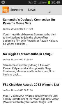 Cine Corn - Telugu Cinema screenshot 1