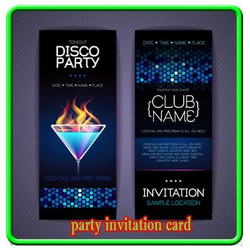 Party Invitation Card poster
