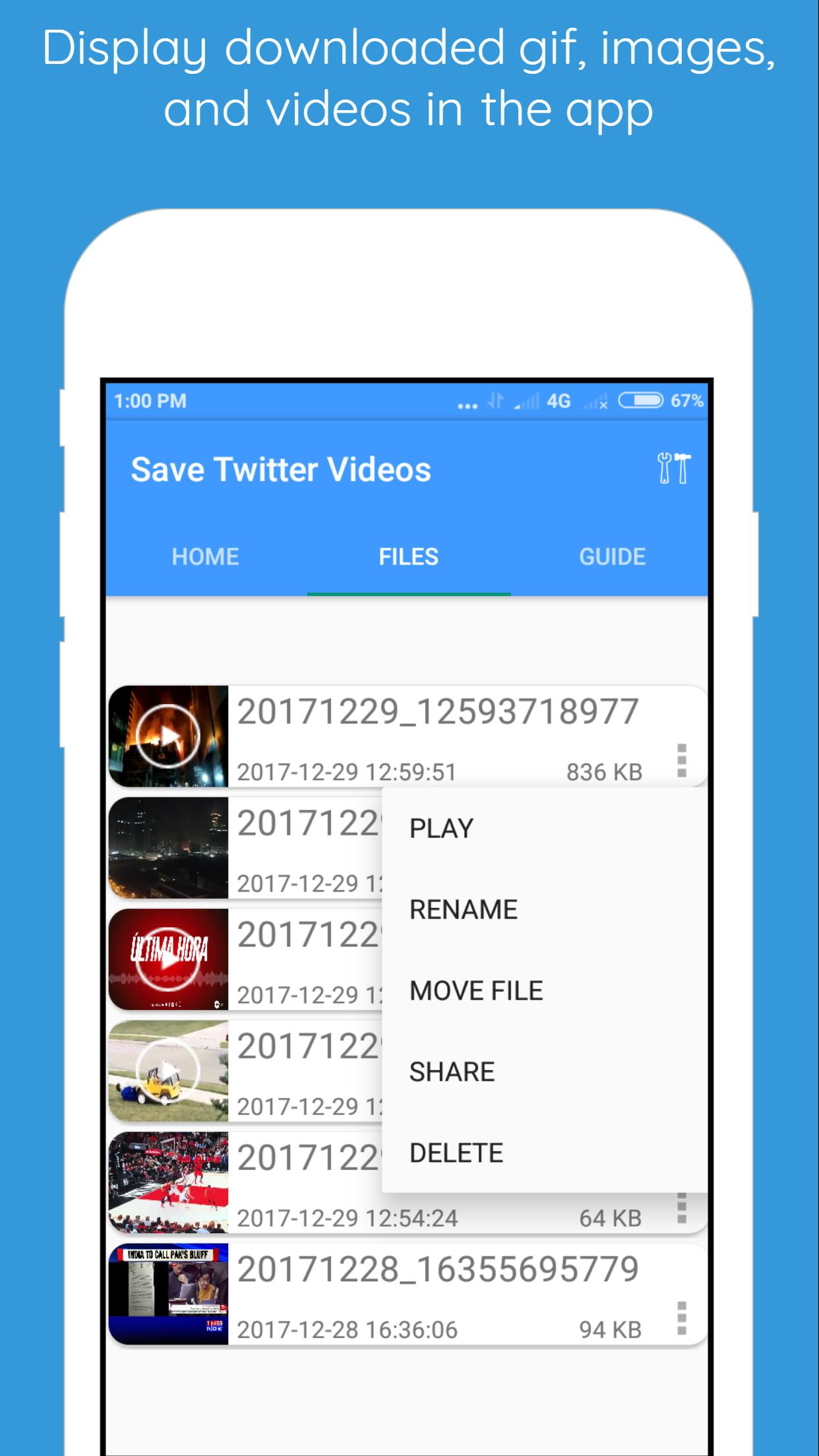 Save Twitter Videos Gifs And Images For Android Apk Download