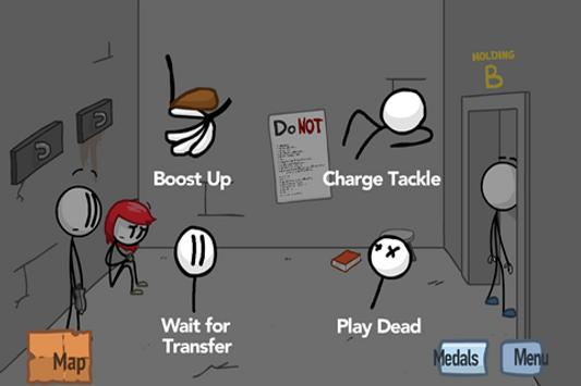 Fleeing of Stickman apk screenshot