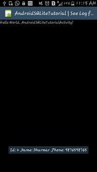 AndroidSQLiteTutorial apk screenshot