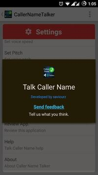 Caller Name Talker  Advance apk screenshot