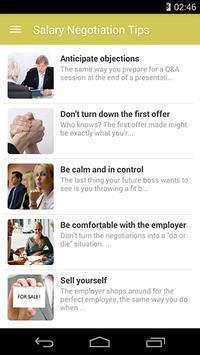 Salary Negotiation Tips poster