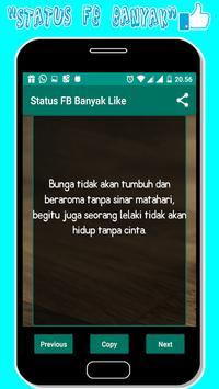 Status fb Banyak Like screenshot 1