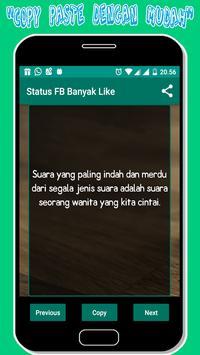 Status fb Banyak Like screenshot 2