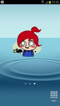 Red Girl Animation for SayHi apk screenshot
