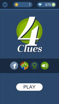 4 Clues - Guess a Word poster