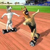 HoverBoard dog surfer : dog Racing Game icon
