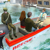 Rescue Boat Mission In Flood icon