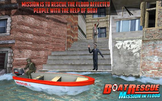 Rescue Boat Mission In Flood poster