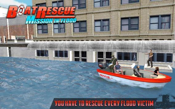 Rescue Boat Mission In Flood apk screenshot
