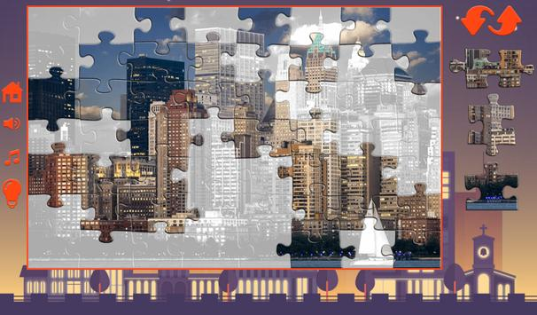 Puzzles for adults of the city apk screenshot