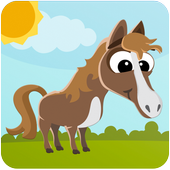 Puzzles about horses icon