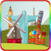Countries puzzles icon