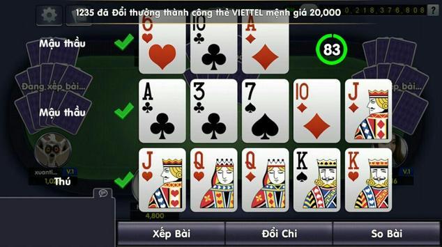 Game bai doi thuong, tien len apk screenshot