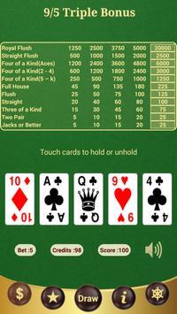 9/5 Triple Bonus Poker poster