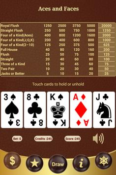 Aces and Faces Poker apk screenshot