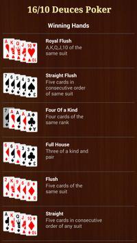 16/10 Deuces Poker apk screenshot