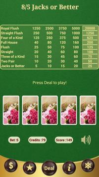 8/5 Jacks or Better Poker poster