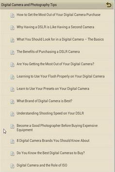 DSLR and Photography Tips apk screenshot