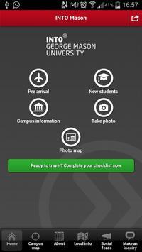 INTO GMU student app screenshot 1