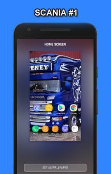 Truck Scania Wallpaper HD poster