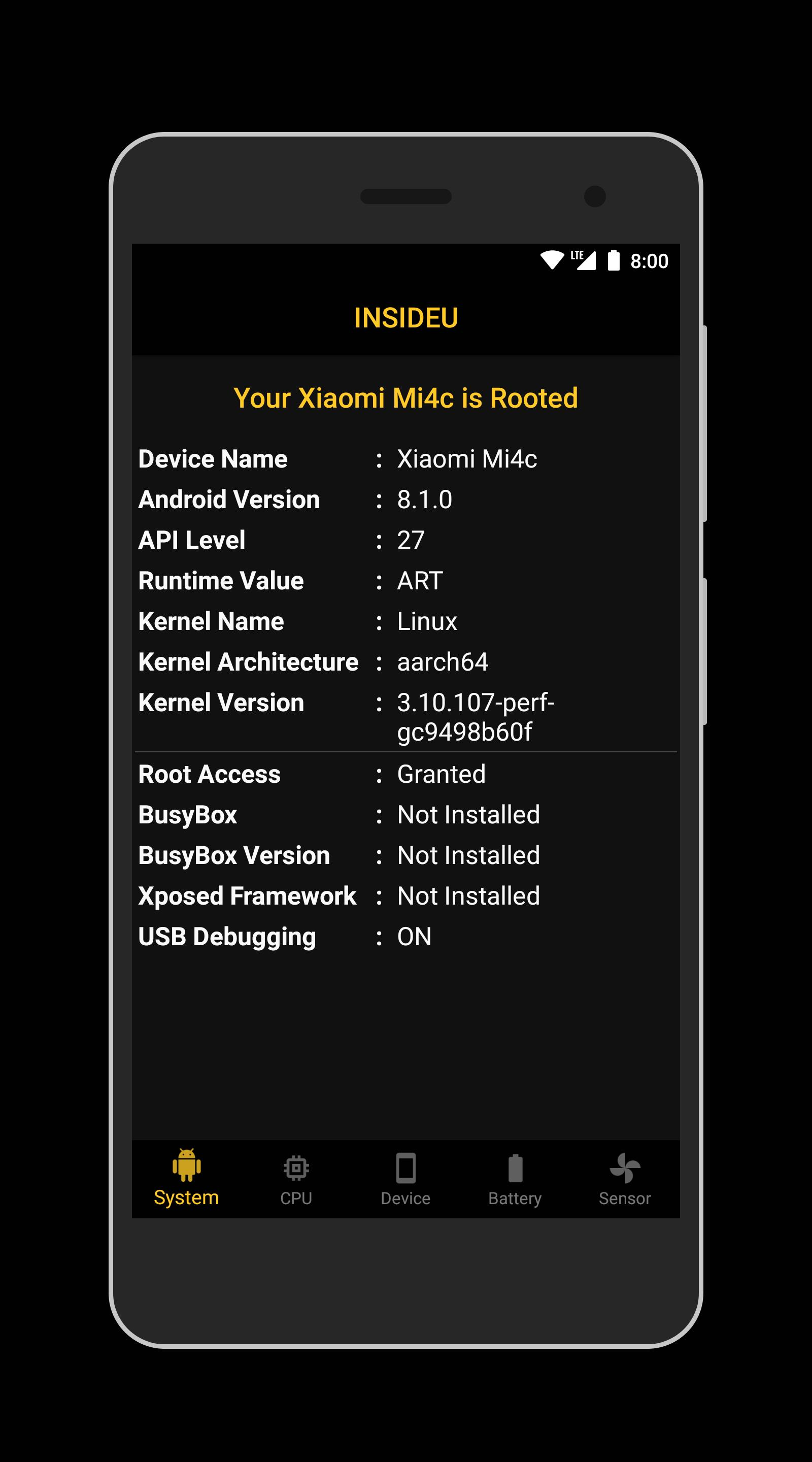 INSIDEU: CPU and Root Checker for Android - APK Download